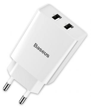 СЗУ блочок Baseus Speed Mini Dual U Charger 10.5W