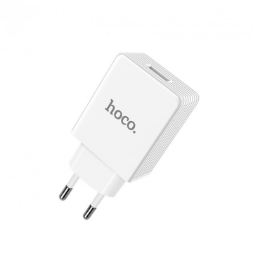 Зарядное устройство (блочок) Hoco C34A Platinum 1USB QC 3.0