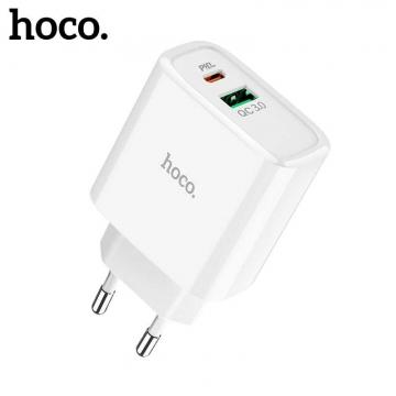 Зарядное устройство (блочок) Hoco C57 PD+QC3.0 (1USB/3.1A)