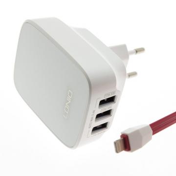 СЗУ iPhone 5 LDNIO DL-AC-65 (зарядное устройство 3 USB/3.4A)