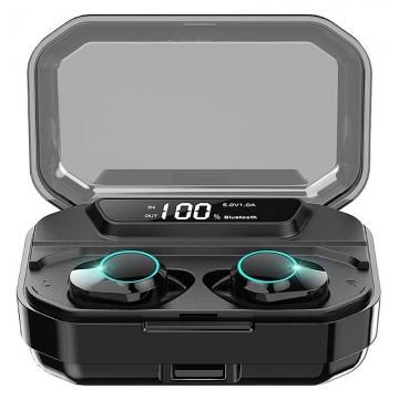 Наушники Bluetooth Kumi T3S (TWS) со встроенным Power Bank чёрные