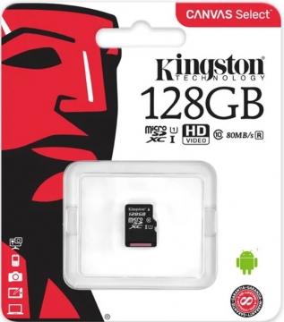Micro SD 128 GB Class 10 Kingston