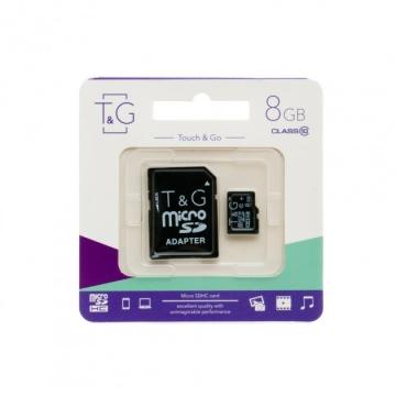 Micro SD (с адаптером) 8 GB Class 10 T&G