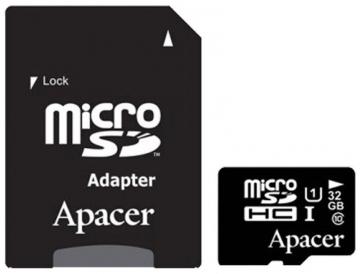 Micro SD (с адаптером) 32 GB Class 10 Apacer