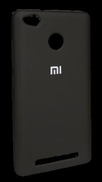 Накладка Xiaomi Redmi 3s силикон Mi черный