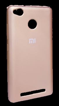 Накладка Xiaomi Redmi 3s силикон Mi розовый