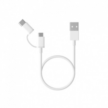 USB cable V9 + usb type-c Xiaomi (2 in 1) 100cm