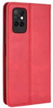 Книжка Infinix Note 8i красная глянцевая с застёжкой