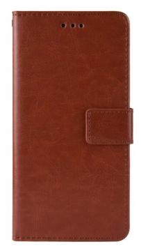 Книжка Umidigi A7 Pro коричневая глянцевая с застёжкой