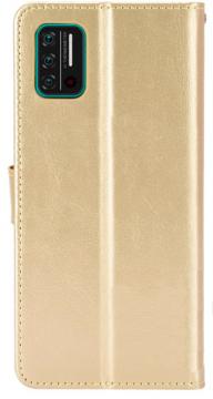 Книжка Umidigi A7s золотая глянцевая с застёжкой